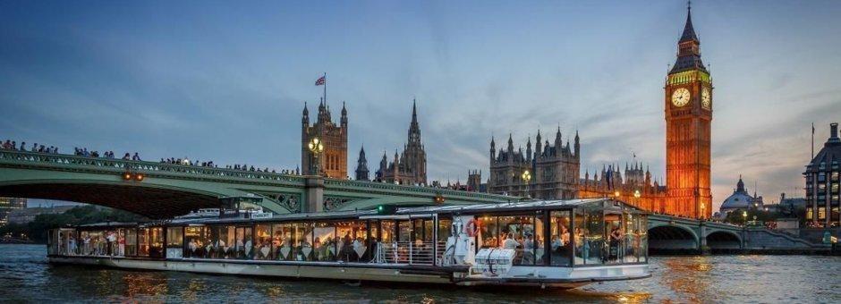 Abendessen-Kreuzfahrt auf der Themse